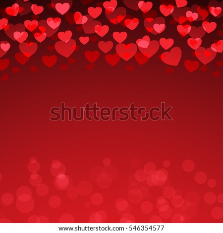 Red Heart Valentine's day background