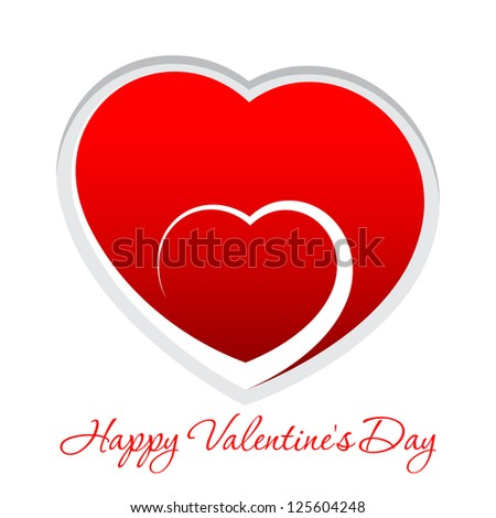 red heart valentine's day or