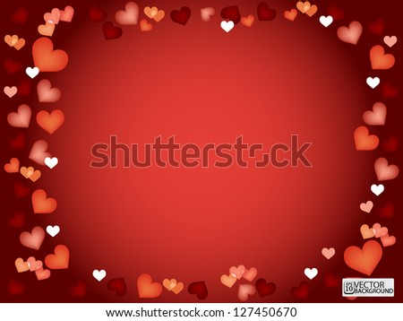 red heart vector  background