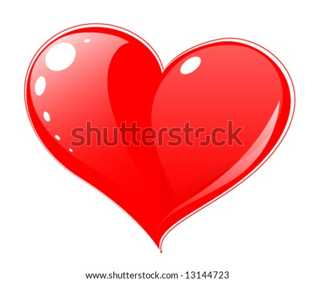 red heart   web icon  button