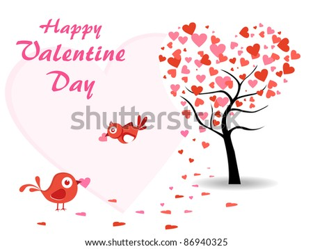 red hearts, circle background with hanging romantic heart shape, vector illustration