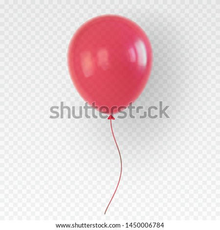 red helium balloon birthday