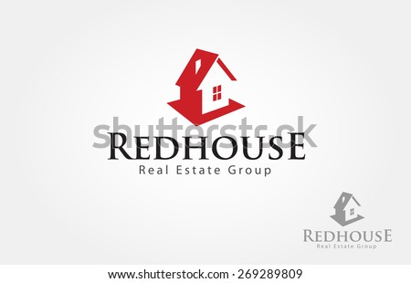 red house logo design for real