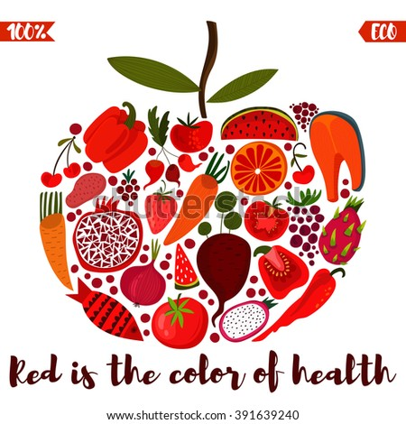 red is the color of health