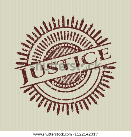 Red Justice grunge seal #1122142319