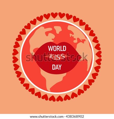 red kissing and smiling cartoon