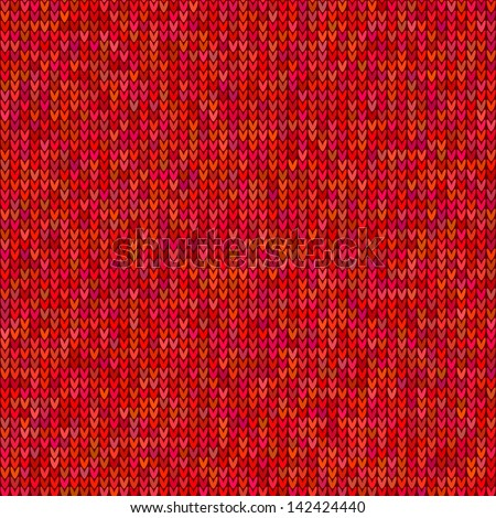red knitted sweater vector