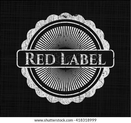 Red Label chalkboard emblem