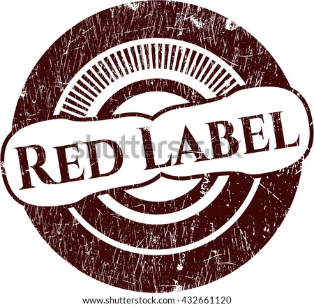 Red Label grunge style stamp