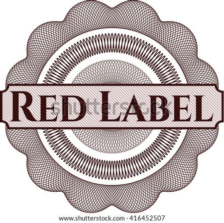 Red Label rosette or money style emblem