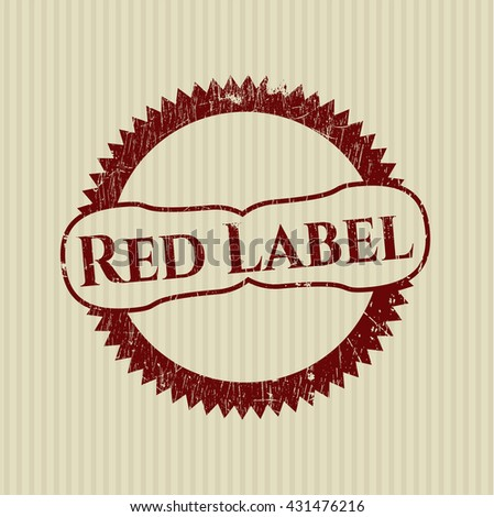 Red Label rubber grunge seal