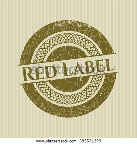 Red Label rubber seal