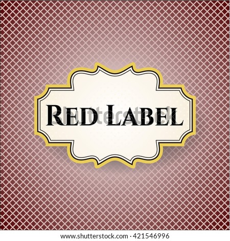 Red Label vintage style card or poster