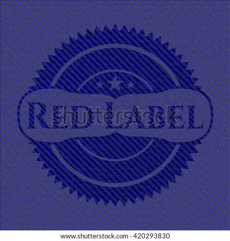 Red Label with jean texture
