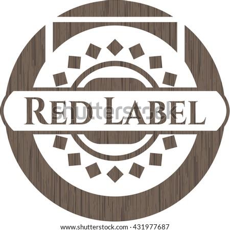 Red Label wood emblem. Retro