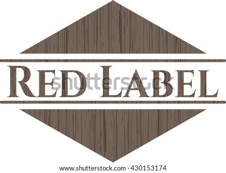 Red Label wood emblem. Vintage.