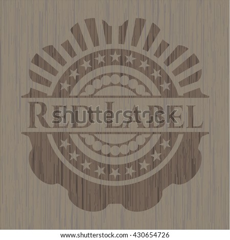 Red Label wood icon or emblem