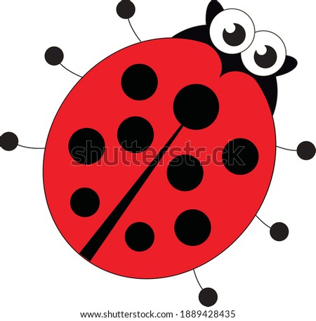 red ladybug outlined character