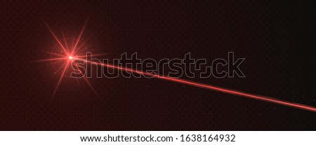 red laser beam light effect