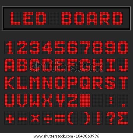 red led digital english