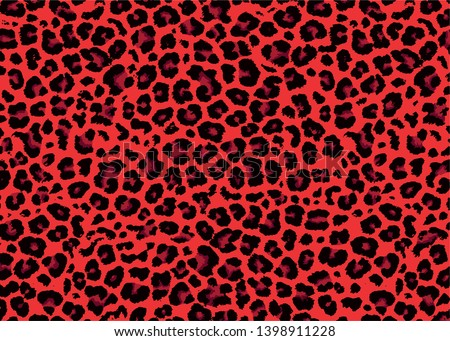 red leopard skin pattern design