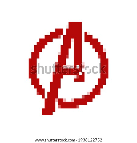 red letter a in a circle