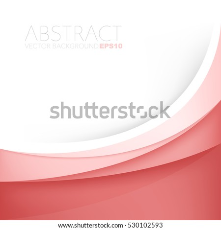 Red line background red curve line element vector paper overlap background with space for text design , vector