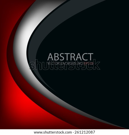 red line vector background on