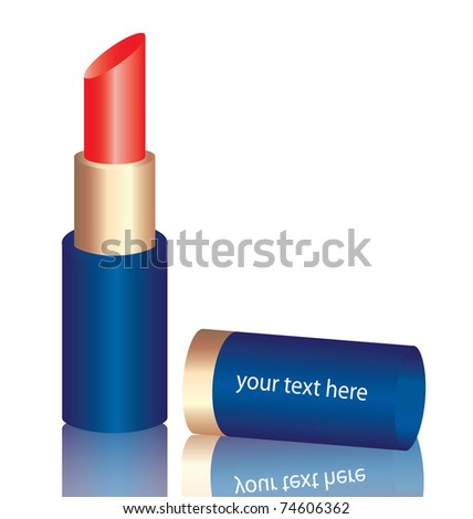 red lipstick in vector