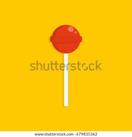 red lollipop vector icon