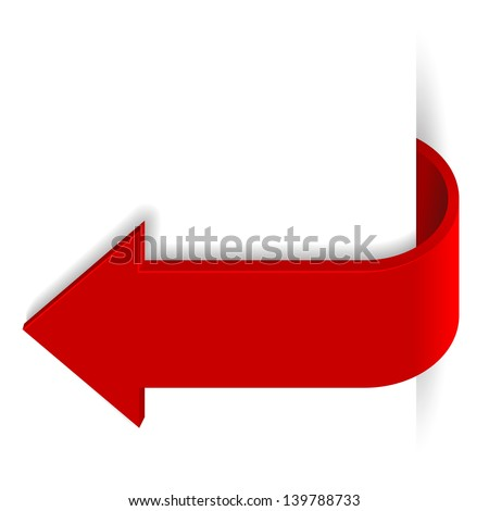 Red long arrow