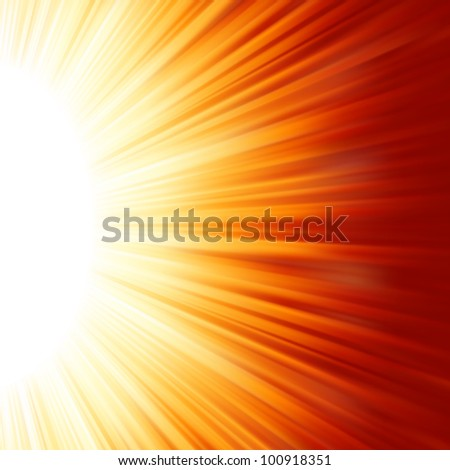 Red luminous rays. EPS 8 vector file included