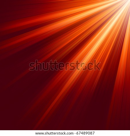 red luminous rays eps 8 vector