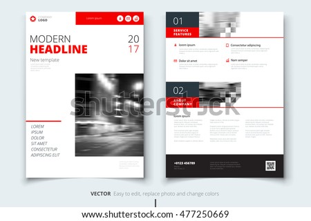 Business magazine template design download free vector art stock red magazine cover design template corporate business template for annual report catalog or brochure cheaphphosting Gallery