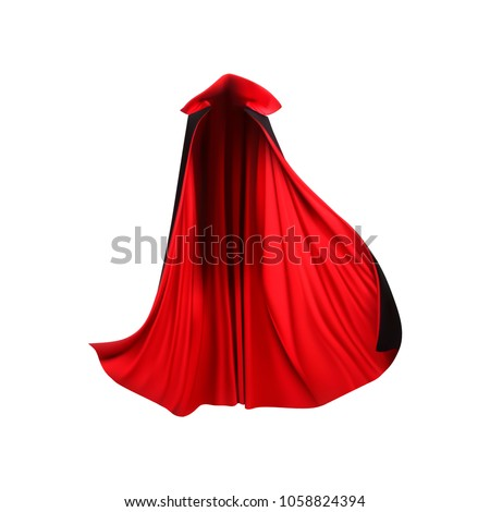 red mantle  cloak  cape. vector ...