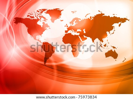 red map of the world