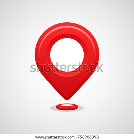 Red map pin pointer