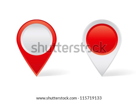 Red map pins