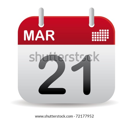 red march calendar stand up - stock vector