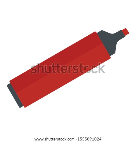 Red marker icon. Flat illustration of red marker vector icon for web design