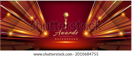 Red Maroon Golden Royal Awards Background Graphics Lines Stripes Breaking News Elegant Shine Modern Blended Template Luxury Premium Corporate Abstract Design Template Banner Certificate Dynamic Shape