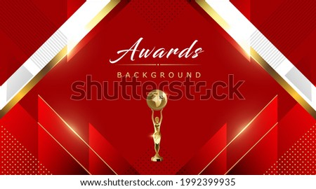 Red Maroon White Golden Awards Graphics Background Lines Polygon Triangle Elegant Shine Modern Stripe Template Frame Luxury Premium Corporate Abstract Design Template Banner Certificate Dynamic Shape