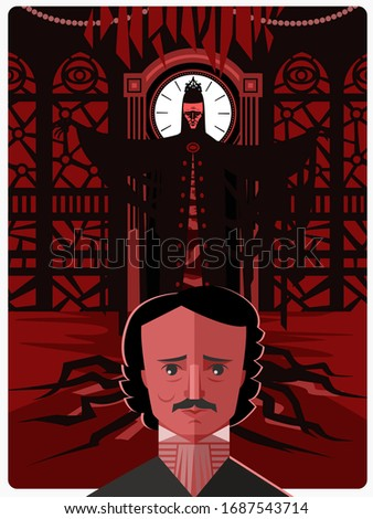 red masque of death edgar alan poe horror tale Stok fotoğraf ©