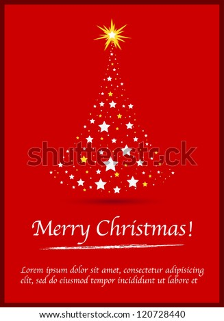 Red Merry christmas backgound. Vector