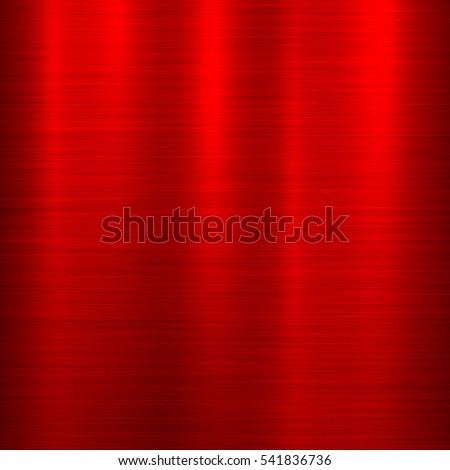 Red metal abstract technology background with polished, brushed texture, chrome, silver, steel, aluminum for design concepts, web, prints, posters, wallpapers, interfaces. Vector illustration.