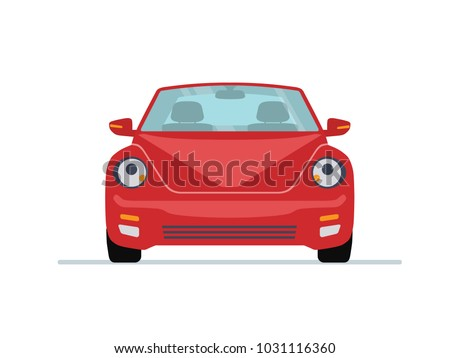 red modern car isolated on