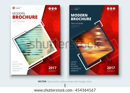 vector images illustrations and cliparts red modern cover page