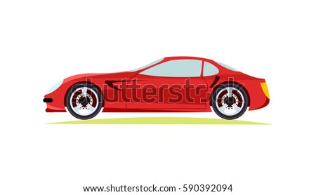 red modern fast sports car on