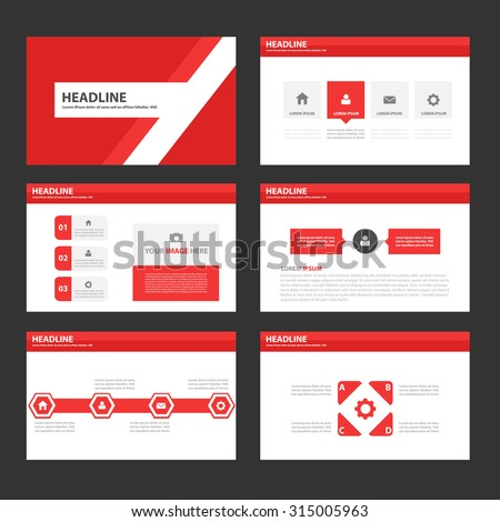 Red Multipurpose Infographic elements and icon presentation template flat design set for advertising marketing brochure flyer leaflet