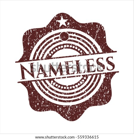 red nameless rubber grunge stamp